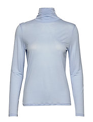 Tencel Polo Neck Top - ATLANTIC B