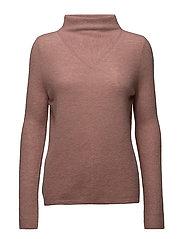 Mohair Mock Neck Pullover - ROSE
