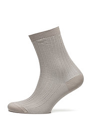 Lurex Rib Sock