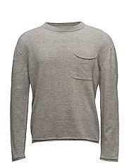 M. Cotton Linen Light Knit - GREY MEL.