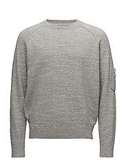 M. Military Sweatshirt - GREY MEL.