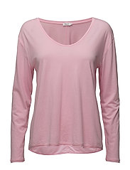 Scoop Neck Long Sleeve Top - CANDY