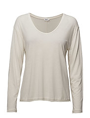 Scoop Neck Long Sleeve Top - CANVAS
