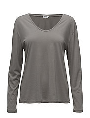 Scoop Neck Long Sleeve Top - STORM