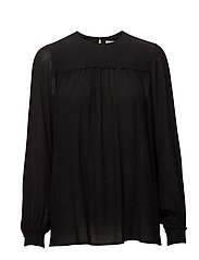 Crinkle Blouse - BLACK