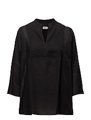 Light Pleat Blouse - BLACK