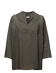 Light Pleat Blouse - SAGE