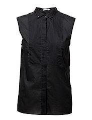 Tuxedo Sleeveless shirt - BLACK