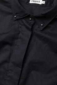 Filippa K - Tuxedo Sleeveless shirt - lyhythihaiset paidat - black - 2