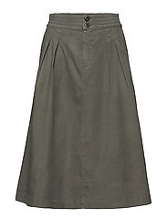 Flared Pleat Skirt - SAGE