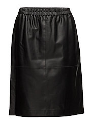 Agnes Leather Skirt - BLACK