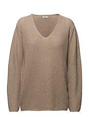 Linen V-neck Sweater - HEMP