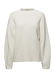 Sculptural Cotton Sweater - CREAM