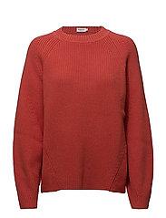 Sculptural Cotton Sweater - POPPY