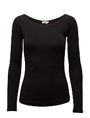 Ballerina Style Long Sleeve To - BLACK