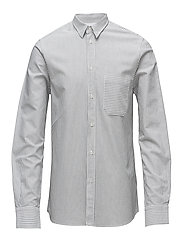 M. Pierre Stripe Shirt - BLACK/WHIT