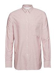 M. Pierre Stripe Shirt - RUST/WHITE