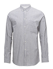 M. Peter Striped Shirt - NAVY / WHITE