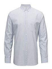 M. Peter Striped Shirt - SKYWAY/ WHITE