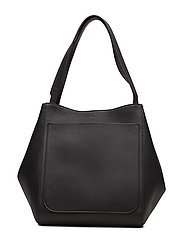 Shelby Bucket Leather Bag - BLACK