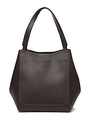 Shelby Mini Bucket Leather Bag - DK CACAO