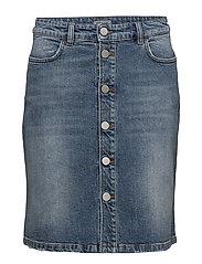 Mid Blue Denim Skirt - VINTAGE SU