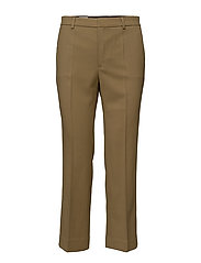 Hudson Twill Cropped Trousers - KELP