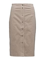Cord Skirt - STONE