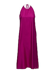 Silk Halter Dress - ORCHID