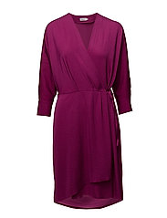 Slinky Wrap Dress - ORCHID