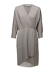 Slinky Wrap Dress - STONE