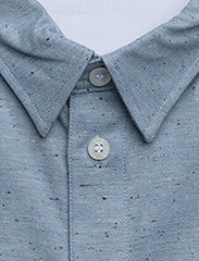 Filippa K - M. Heath Tweed Shirt - chemises basiques - aquatic me - 2