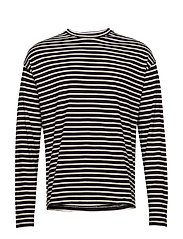 M. Striped Long Sleeve - BLACK/BONE