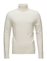 M. Cashmere Roller Neck Sweate - BONE