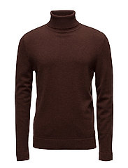 M. Cashmere Roller Neck Sweate - RUSSET