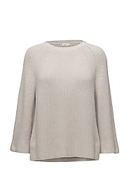 Ribbed Cotton Sweater - STONE
