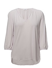 Gathered Jersey Blouse - PALE VIOLE