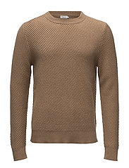 M. Cashmere R-Neck Sweater - CAMEL