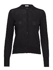 Merino Short Cardigan - BLACK