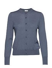 Merino Short Cardigan - BLUE GREY