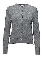 Merino Short Cardigan - MID GREY M