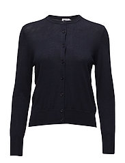 Merino Short Cardigan - NAVY