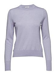 Merino R-neck Sweater - HYACINTH