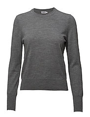 Merino R-neck Sweater - MID GREY M