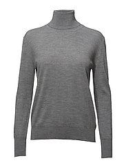 Merino Roller Neck Sweater - MID GREY M
