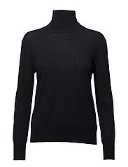 Merino Roller Neck Sweater - NAVY