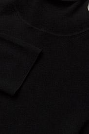 Filippa K - Merino Elbow Sleeve Top - turtlenecks - black - 2
