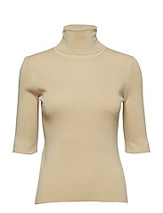 Merino Elbow Sleeve Top - SAHARA