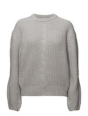 Sculptural R-neck Sweater - SUPERLIGHT