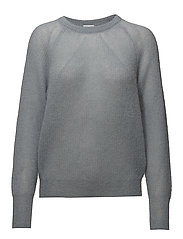 Mohair R-neck Sweater - DOVE BLUE